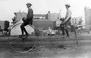 Two penny farthings